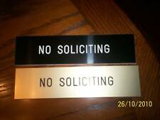 """2X8"""" Engraved Residential, No SOLICITING sign"""