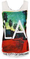 womens Ladies Sleeveless More Issues Coca cola LA City USA Top Vest T-Shirt 8 14