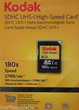 sd hc 8 Kodak carte mémoire UHS - I 1 HD grande marque garantie stock France