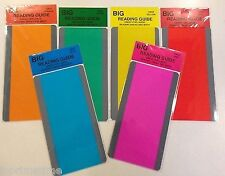 """New Paragraph Reading Comprehension Guide/Strips Pack of 6 Colors 3.75"""" by 7"""""""