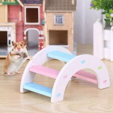Hamster Ladder Toy Small Animals Climbing Wood Rainbow Bridge Toy Pet Supplies