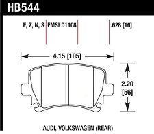 Hawk Performance HB544F.628 Virtually Noise-Free Disc Brake Pads