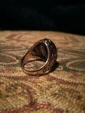 Vintage Style Gold Plated Anniversary Men's  Signet Ring (Sizes R 1/2, U)