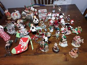 Christmas Ornaments - Lot of 80Assorted Wooden,porcelain,plastic.