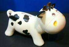 Jewel Eye Milk Cow Coin Bank Cute!
