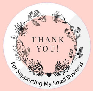 Round Thank you for supporting my small business logo, Round Stickers Labels 3A
