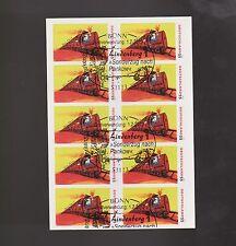 Echte Briefmarkenheftchen aus der BRD (ab 1945) mit Eisenbahn-Motiv