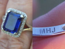 Diamond Sapphire Lab-Created/Cultured Fine Jewellery