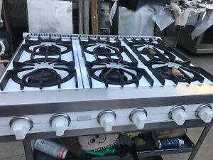 "36"" Viking White Rangetop, 6 burners, also 4 + griddle, in LA"