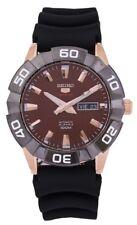Seiko 5 Sports 100M Automatic Men's Watch Black Dial Rubber Strap
