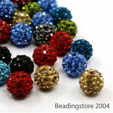 100pcs Colorful Polymer Clay Rhinestone Beads Loose Disco Ball Beads Craft 10mm