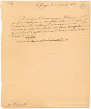 Marquis De Lafayette Letter Signed - Forwards Personal Letters Just Before Death