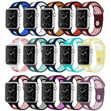 Sport Silicone Strap Watch Band For Apple Watch Series 654321 se 38/42mm 40/44mm