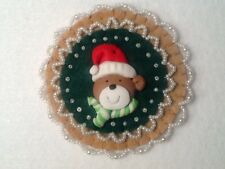 (47) Red and green decorations, ornaments, christmas decorations, teddy bear