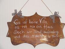 Rost Schild / Haus Spruchtafel