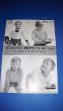 Vintage Patons DK Child's Sweaters & Cardigans Knitting Pattern Book 1192