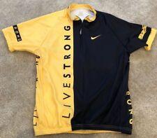 EUC Men's LIVESTRONG biking shirt, size M, black and yellow Cycling Jersey