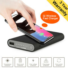 Qi Wireless 20000mah Power Bank 2USB Battery Fast Charger For iPhone Samsung UK