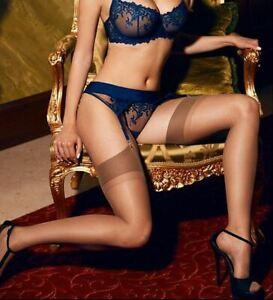 Barbara Sheer Silky Garter Stockings Retro Style Hosiery 100% Nylon 20 Denier by