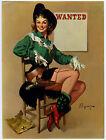 Vintage 1950s Gil Elvgren Western Brown & Bigelow Pin-Up Print Cowgirl w Holster