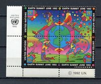 19246A) United Nations (New York) 1992 MNH Earth Summit + Lab