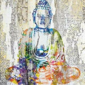 4 individual Buddha decoupage napkins, scrapbooking, mixed media, crafting