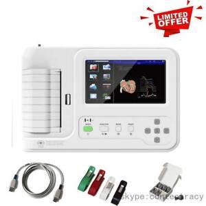 CONTEC,New,Digital 6 Channel 12leads ECG EKG Machine with Printer,ECG600G,touch
