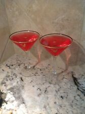 New Playboy Candle/ Martini Glasses (Set of 2)