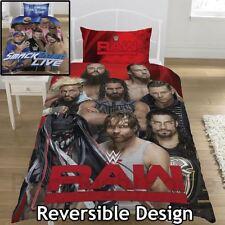 WWE Wrestling Raw VS Smackdown Single Duvet Cover 2 in 1 Reversible Cotton Blend