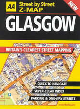 """""""VERY GOOD"""" AA Street by Street Z-map Glasgow, , Book"""