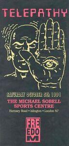 Telepathy - UK Rave 1991 VINTAGE METAL TIN SIGN POSTER WALL PLAQUE