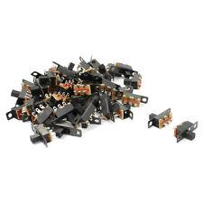 50 Pcs 3 Solder Lug Pin ON/OFF/ON 2 Position Panel Mount Slide Switch L6