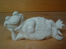 NEW ATTITUDE TURTLE LAYING ON SIDE 6.5 inches ready to paint CERAMIC BISQUE