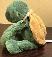 """Mary Meyer Sweet Rascals Turtle Plush Stuffed Toy 9"""" Green & Brown"""