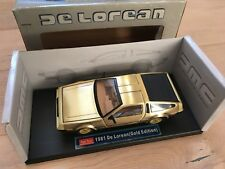 Modellauto 1/18 DMC De Lorean DeLoren Gold Edition Neu & OVP Sunstar Rarität