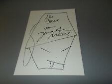 Jonathan Meese signiert signed Autogramm Zeichnung auf 20x30 cm Briefkarte in p.