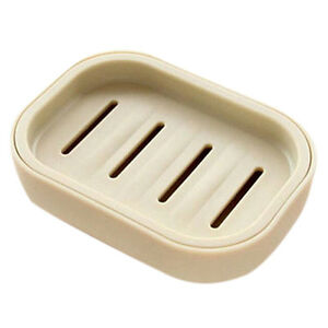 Water Draining Soap Dish Case Holder Drainer Soap Saver Stand Storage BoxLDU TM