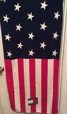 Tommy Hilfiger Beach Towel Flag Red White Blue VTG