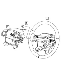 Genuine MOPAR Steering Wheel 1DG831DVAG