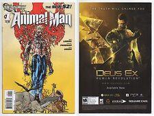ANIMAL MAN #1 (2011) NEW 52 1ST PRINT! JEFF LEMIRE! DC COMICS! XL SCANS!