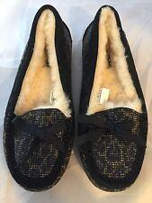 New UGG Australia Rylee Black Moccasin Slipper, Women Size 6, $120