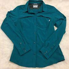 Columbia Green Omni-Shade Button Front Shirt