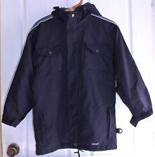 BOYS HUSKI EXPLORER SKI JACKET SNOW BOARD USA SIZE 10 BLACK GREY WARM EXC RP$150