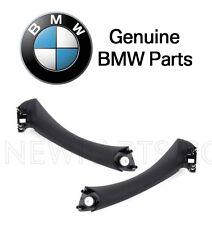 BMW E90 325i 328i 335i E91 Pair Set of Two Rear Inside Door Pull Handles Black
