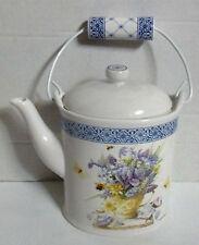 Hallmark Marjolein Bastin Ceramic Teapot Nature's Sketchbook