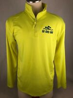 Badger Sport Swim Swimming Men's Sport ZIP Long Sleeve Half Zip Shirt Large L