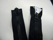 fermeture eclair noir PLASTIQUE séparable blouson veste 80cm neuf r31n1