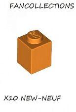 LEGO x 10 - Orange Brick 1x1 - 3005 NEUF