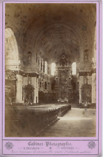 Allemagne Une Eglise Vintage Print Carte Cabinet. Tirage albuminé  11x16