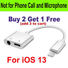 iPhone 2 IN 1 Headphone Adapter Jack Lightning to 3.5mm AUX Cord Splitter iOS 13